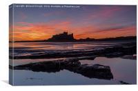 Bamburgh Castle Sunrise, Canvas Print