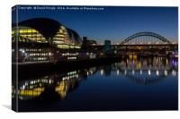 Sage Gateshead and Tyne Bridge, Canvas Print