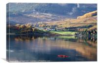 Canoeing on Loch Goil, Canvas Print