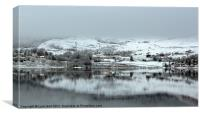 Snowy Reflections on the Loch, Canvas Print