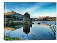 Castle on the Loch, Canvas Print