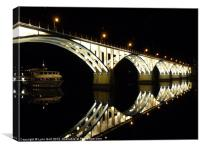 Barca d''Alva Bridge, Canvas Print