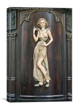 Art Deco Lady, Canvas Print