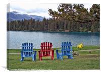 Three Chairs, Canvas Print