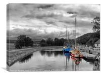 The Crinan Canal, Canvas Print