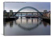 Bridges over the Tyne, Canvas Print