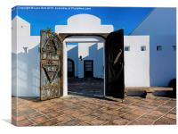 White Buildings of Lanzarote, Canvas Print