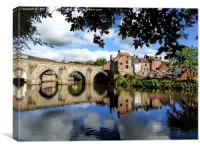 Elvet Bridge, River Wear, Durham, England , Canvas Print