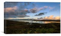 Evening Light in the Shetland Isles, Canvas Print