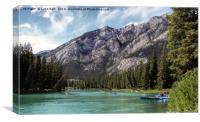 Bow River Banff Canada, Canvas Print