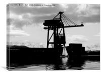 Hunterston Pier Ayrshire Scotland, Canvas Print