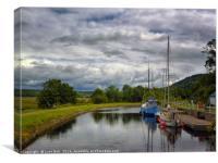 Crinan Canal Argyll, Canvas Print