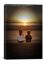 Sunset Girls, Canvas Print