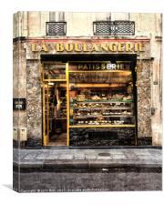 La Boulangerie Paris, Canvas Print