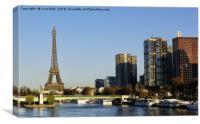 The Seine Paris, Canvas Print