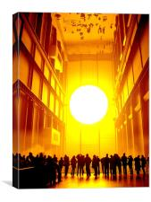 Tate Modern Sun, Canvas Print