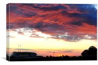 Sunset Over Epsom Racecourse, Canvas Print