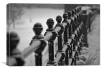snowy railings, Canvas Print