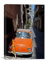 Parking Naples style, Canvas Print