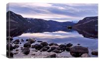 Loch Muick reflections, Canvas Print