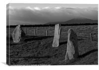 Standing stones Bennachie, Canvas Print