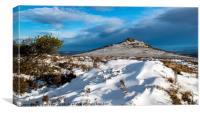Winter Bennachie, the Mither Tap, Canvas Print