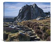 Clachnaben granite tor, Canvas Print