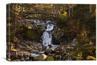 Victoria's Bridge over the Falls of Garbh Allt, Canvas Print