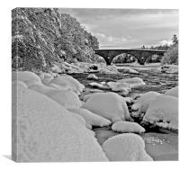 Potarch Bridge, winter, Canvas Print