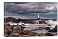 Aberdeen South Breakwater Light, Canvas Print