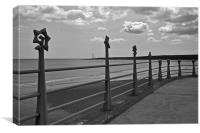 Montrose Sea front, Canvas Print