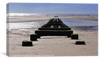 Blackpool beach, Canvas Print