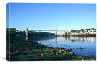 Menai Bridge in morning light, Canvas Print