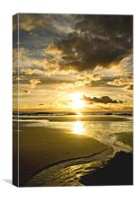 Golden Estuary, Canvas Print