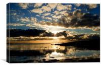Mackerel sky, Canvas Print