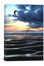 Kitesurfer at Dawn, Canvas Print