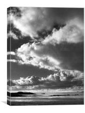 Powerful Clouds, Canvas Print