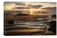 Swirly Sand, Canvas Print