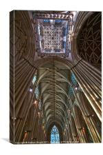 Minster ceiling., Canvas Print