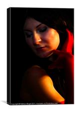 Abstract lady in red, Canvas Print