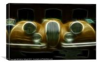 Old Jag sports, Canvas Print
