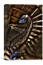 Metal stairs, Canvas Print