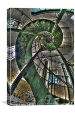 Spiralling out of control, Canvas Print