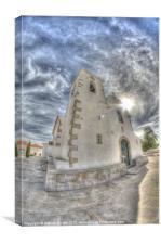 Algarve church, Canvas Print