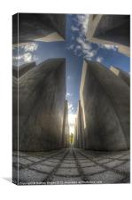 Jewish memorial wide, Canvas Print