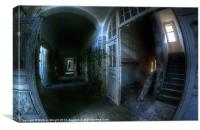 Hallway horrors., Canvas Print