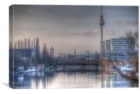 Four towers Berlin, Canvas Print