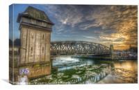 Bridge over icey waters, Canvas Print
