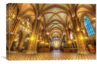 Inside a Budapest church, Canvas Print