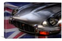 E Type, Canvas Print